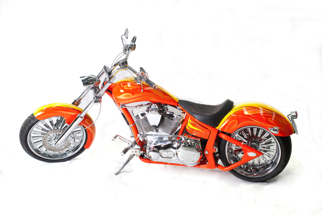 PRO-ONE ROGUE Pearl Orange w Candy Yellow Flame Design