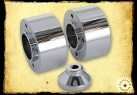 CHROME BILLET FRONT HUB KIT AC-1008