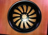 FLAT BLACK BILLET WHEEL LUCKY 13 AC-1201