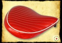 SEAT RED METAL FLAKE w CREAM DETAIL AC-1040